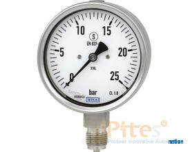 Wika 232.30,  Wika 233.30  Wika 232.50, Wika 233.50 Bourdon tube pressure gauge, stainless steel For