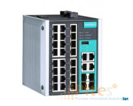 Model: EDS-528E-4GTXSFP-HV Managed Gigabit Ethernet switch with 24  MOXA Vietnam