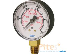 Model 111.10 Bourdon tube pressure guage ABS Plastic or Painted Steel Case Standard Series - Lower M